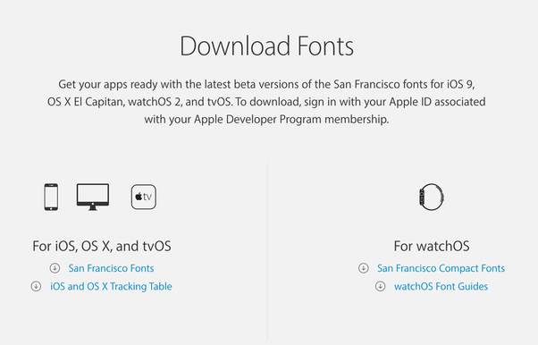 Where can I download the font San Francisco? - Quora