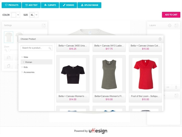 i want to introduce you the latest tshirt designer software udesign beside the fact that includes a free premium theme for a professional look
