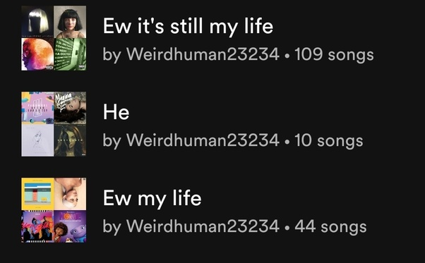 What are some really creative playlist names you've used