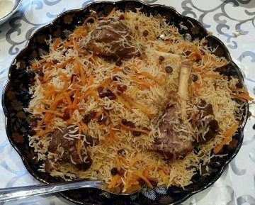 What is unusual or different about the food and cuisine in for Afghanistan cuisine