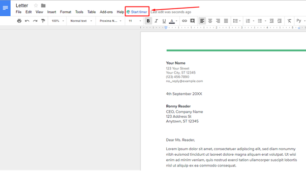 How To Track The Time Spent On A Google Doc Quora - How to start a google doc
