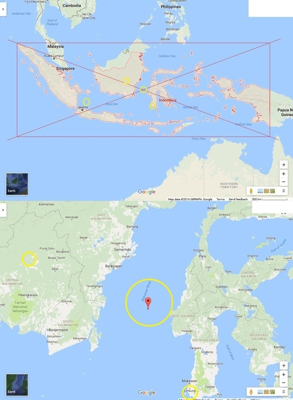Where exactly is the center of indonesia latitude longitude wise i have shown every other answer here with a yellow circle for easy reference and i drew one circle near jakarta my guess the bigger circle gumiabroncs Image collections