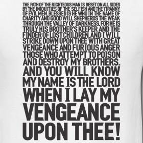 what is the bible verse that samuel l jackson says in pulp fiction