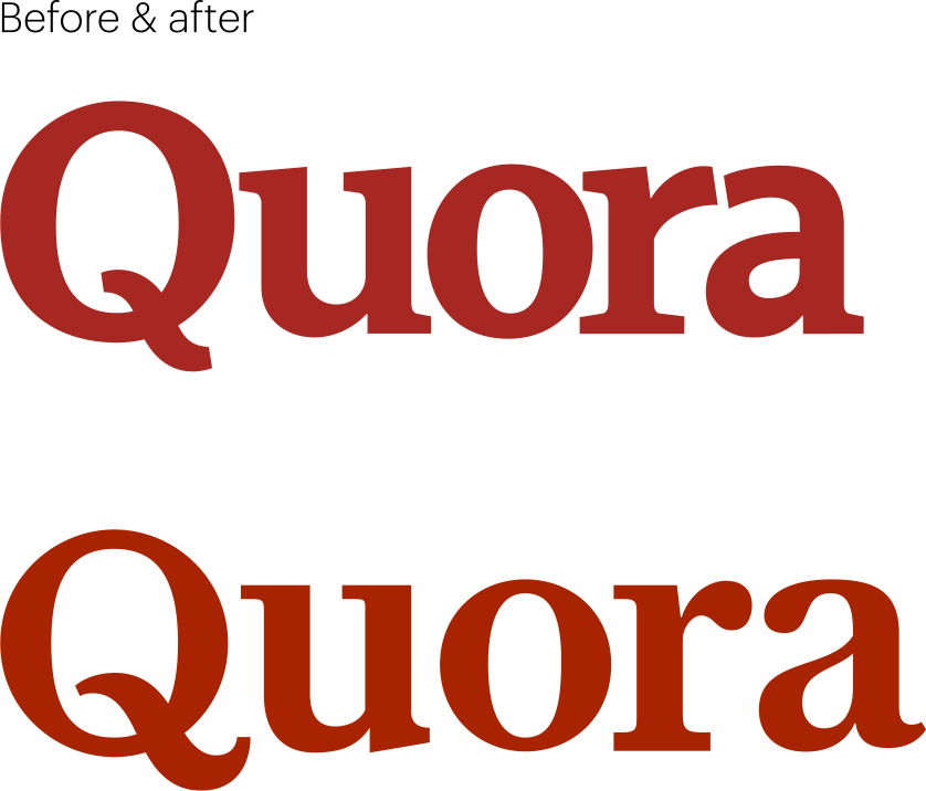 What Typeface Is Used For Quora S Logo Quora
