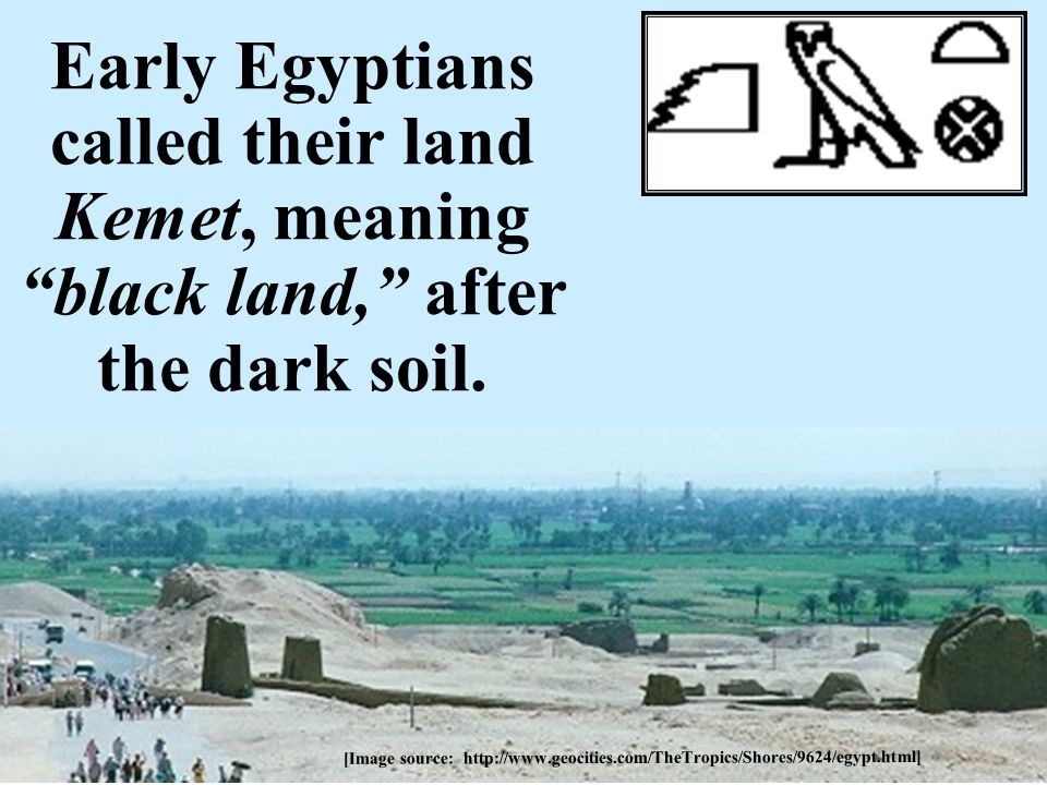 Why did Ancient Egyptians call themselves 'Kemet' or 'Land