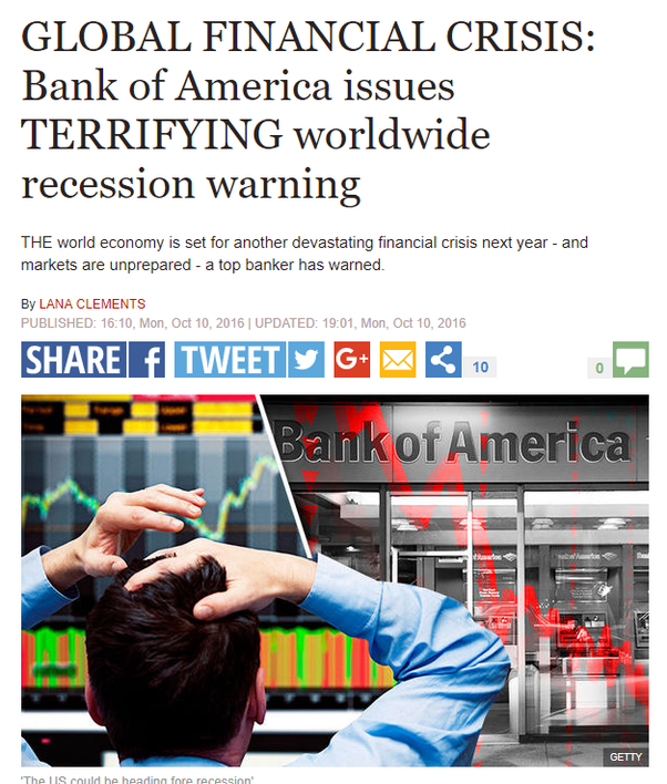 JP Morgan has predicted that the US will be going to face a
