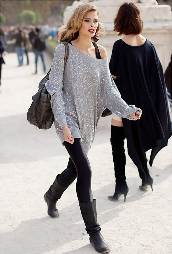 What are some cute outfits with black leggings?