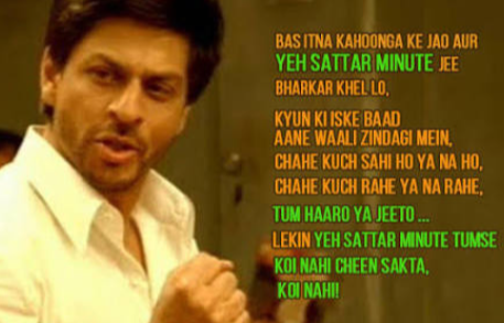 What is the most iconic Hindi movie dialogue you have ever