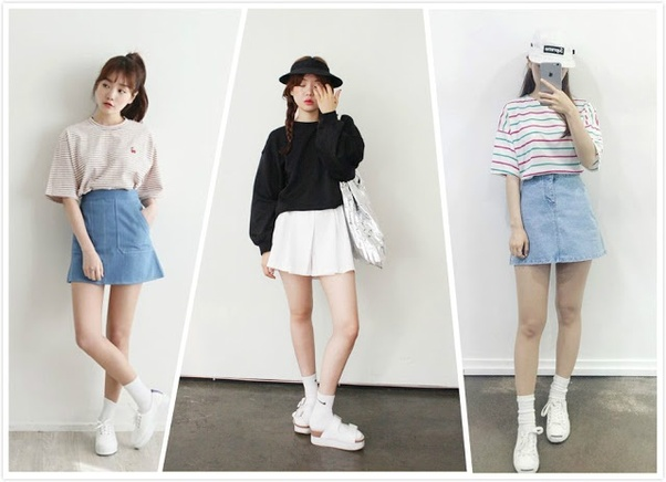 dccd9a9207f It s not only easy-matching but also helpful to extend your leg length and  trim your legs. Tuck your shirt  t-shirt into skirt can effectively enhance  the ...