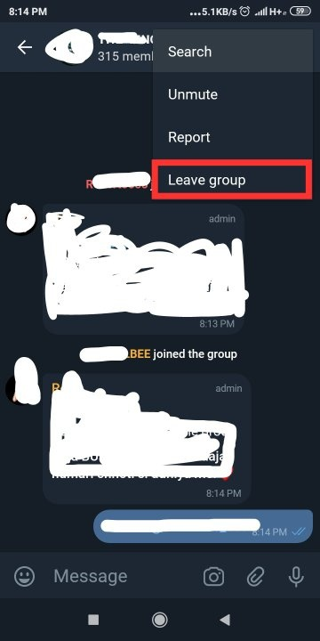 How to leave a group on telegram - Quora