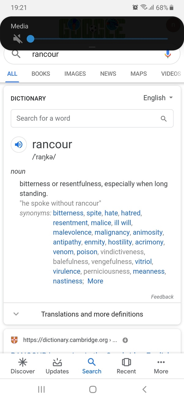 What is the synonym of rancour? - Quora