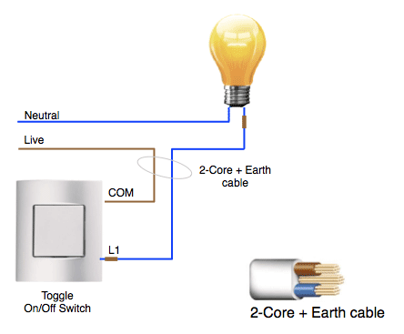 figure 1: a standard 2-wire lighting system