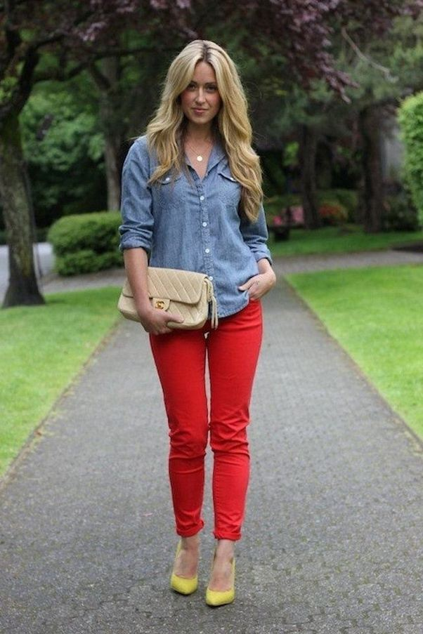 Would a red shirt look good with red pants? - Quora
