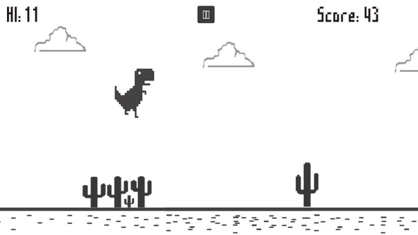 How To Play The Dinosaur Game On Google Chrome Quora