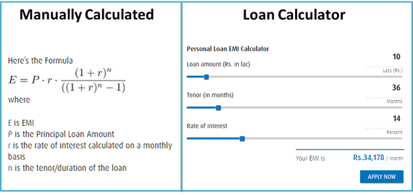 what is the math behind emis equated monthly installments are