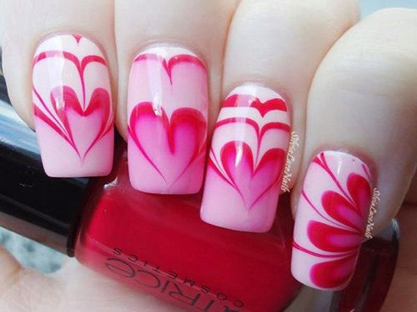 How To Water Marble Nail Art Design Quora