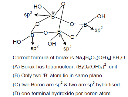 What is the hybridisation of boron in borax with an explanation quora here two boron atoms are negatively charged and tetrahedrally sp3 bonded other two boron atoms are neutral trivalent and are of sp2 planar geometry ccuart Choice Image