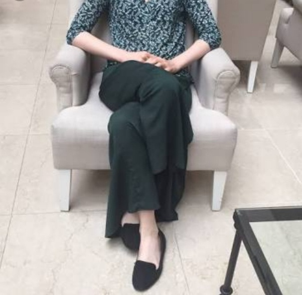 Why do women cross their legs while sitting? Why do girls