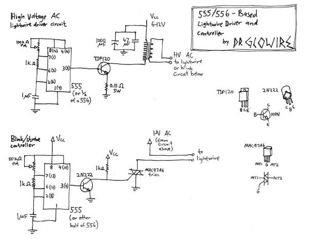 is it possible to use an arduino to tell several strands of el wire rh quora com el wire inverter circuit HP Laptop Inverter Pinout