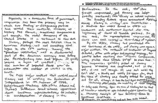 my sat essay from the october 2008 exam click to zoom - Sat Example Essays