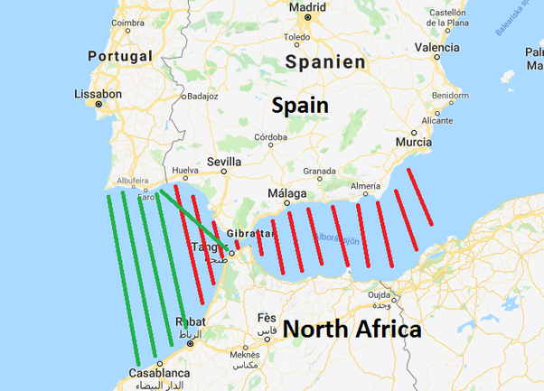 Map Of Spain North Africa.If Portugal Is Very Close To North Africa Why Are There No