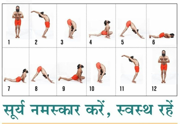 What are the 12 steps of Surya Namaskar? - Quora
