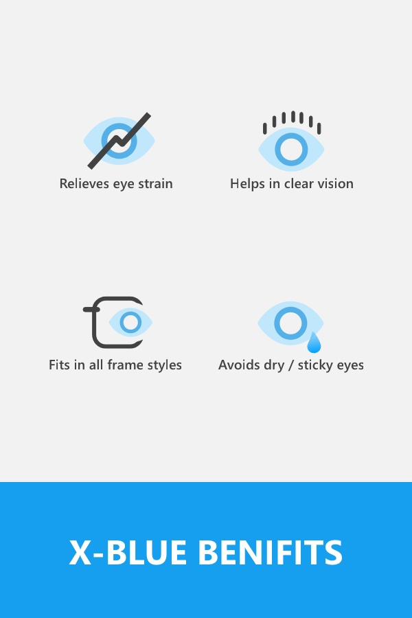 ab291f20323 Blue light lenses have an additional blue blocker coating with anti-glare  coat that provides enhanced vision clarity while blocking harmful blue  light and ...