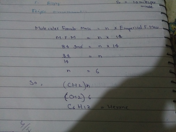 What Is The Molecular Formula For Ch2 With Molar Mass Of 84 Gmol