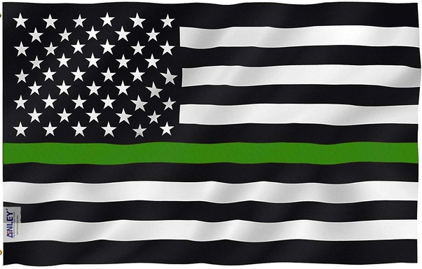 What Is The Meaning Of The Thin Green Line On The American Flag Quora
