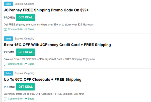 If Youre Placing An Order Online By Searching For Jcpenney Free Shipping Code No Minimum Jcp Coupon 2017 Before Checking Out You Can Score A Percentage