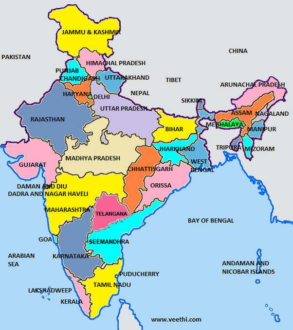 How Many States And Union Territories Are There In India Quora