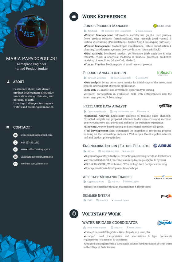 What does a typical entry-level Product Manager resume look like ...