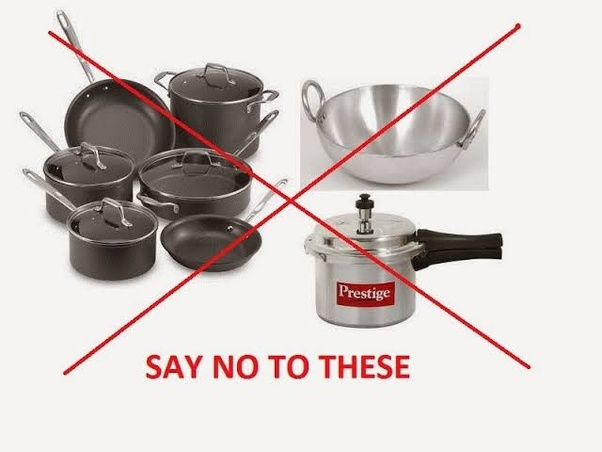 Image result for Stop using Non-stick and aluminum cooking utensils