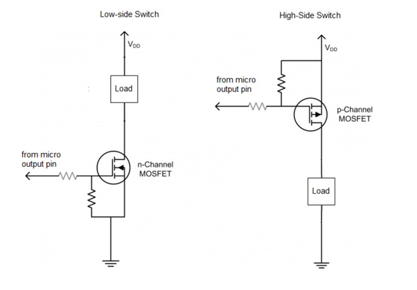 p channel mosfet switch circuit diagram wiring diagram n channel p channel mosfet battery charge controller switching circuit
