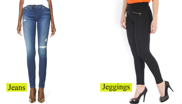 dda4fa6fe2f249 Apart from the different percentage of both spandex and cotton used in each  of these garments, here is my subjective experience in wearing both jeans  and ...