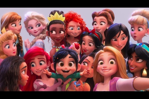 What is the chronological order of Disney princesses starting with