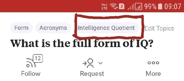 What Is The Full Form Of Iq Quora