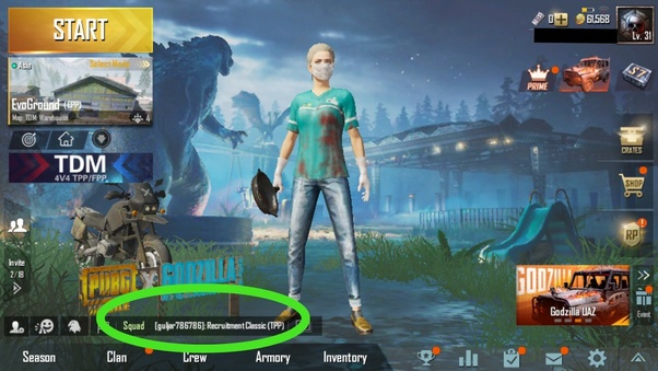 Pubg room mobile chat in enter PUBG How