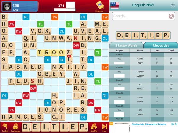 What Is The Best Way To Determine If An Opponent Is Cheating At Online Scrabble Or Lexulous Quora