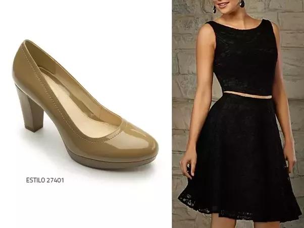 Vestido negro que color de zapatos usar
