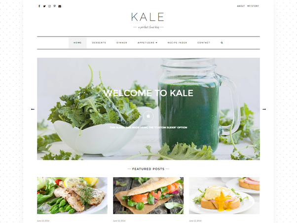 What is the best wordpress theme for food recipes quora i think kale is one of the best no bloat food blogging themes available preview it here forumfinder Image collections