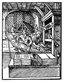 Johan Gutenberg Invented The Letterpress Printing Press In 1450 And For 200 Years Art Of Was A Deep Dark Secret Very First Instruction