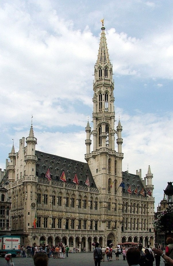 There Are Also Secular Buildings Like Castles, Houses And Town Halls Built  With Gothic Elements.