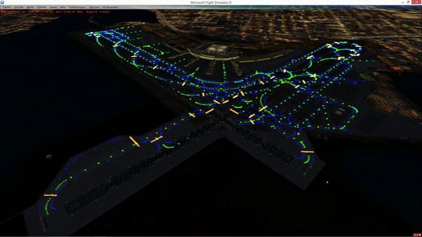 How do airline pilots concentrate when landing in large cities at even low light airports look like dark spots with strips of lights on final approach the airport looks like this mozeypictures Gallery
