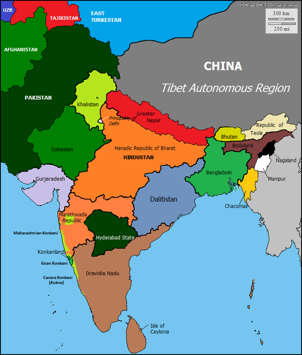india maps and views What Does The Balkanisation Map Of The Republic Of India Look Like india maps and views