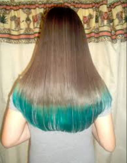 13 Year Old Dye The Tips Of Her Hair