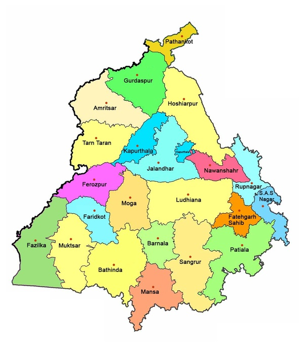 How many districts are there in Punjab? - Quora