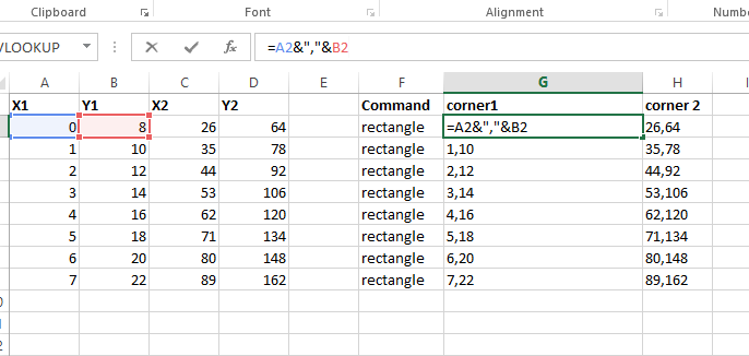 How to make AutoCAD draw a rectangle on its own by taking