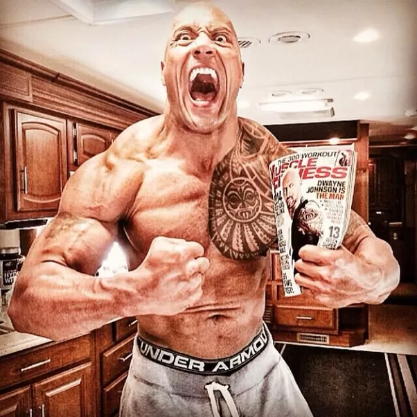 """How long would it take for Dwayne """"The Rock"""" Johnson to lose his muscle mass if he never worked ..."""