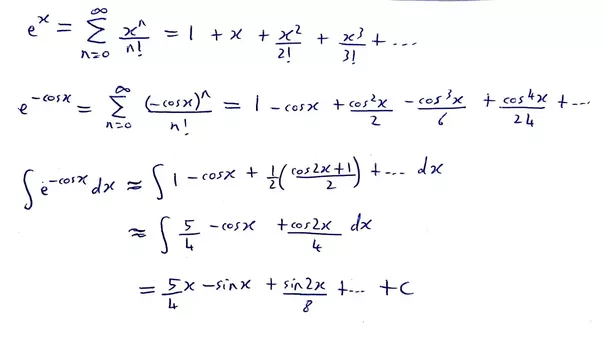 what is the integral of e cosx quora